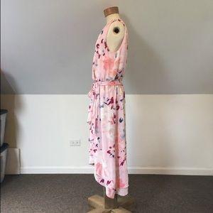 Ivanka Trump Pink Floral Hi Low Casual Maxi Dress